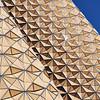 Mashrabiya (Arni J.M.) Tags: architecture building mashrabiya latticework facade skin cooling pattern glint sky closed shadingsystem geometric symmetry aedasarchitects adic leed albahrtowers abudhabi unitedarabemirates