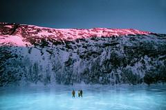 Family Portrait II (Maya Beano) Tags: frozen lake storvatnet arctic landscape 35mm film sunset trom troms