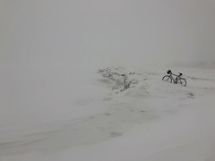 Winter Whiteout (Philocycler) Tags: chicago illinois unitedstates us winter bike chicagolakefront treacherous snow ice whiteout winterbeauty iphone wintercycling