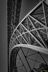 The Roller Coaster - Porto 2015 (Eric R Porcher) Tags: 201508 500px architecture europe extérieur ferraille ferreux flickrallpublic monument métal noiretblanc pont porto portugal structure iphoto pt