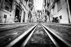 Lisbon impressions (Hendrik Lohmann) Tags: streetphotography street tram portugal lisboa nikon wideangle bnw blackandwhite hendriklohmann padbergstyle