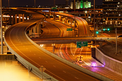 DNT and SRT ramps (thestricnine) Tags: dnt srt tollway interchange ramp ramps dawn night predawn long exposure car light trails