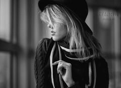 Anya (Tess Trunk) Tags: daylight moment mood moody manual model manualfocus art canon bw bokeh black blackandwite sadness emotion feelingsemotions test manuallens womanportrait portrait portraitart planar joyinthesmallthings hat girl