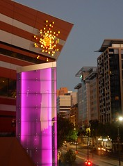 Purple Pillar (mikecogh) Tags: adelaide cbd northterrace conventioncentre illuminated pillar