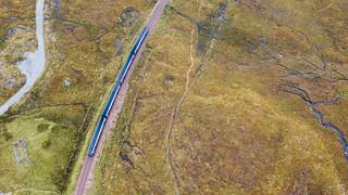 Scotrail train at Corrour