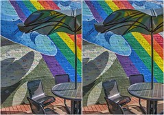 Colorful Seating (turbguy - pro) Tags: stereo 3d crosseye