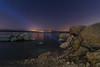 Noche en el pantano. (Amparo Hervella) Tags: embalsedevalmayor comunidaddemadrid españa spain agua estrella noche nocturna lightpainting retrato luz naturaleza largaexposición d7000 nikon nikond7000
