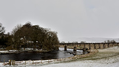 Grassington Bridge (42jph) Tags: snow march spring uk england yorkshire wharfedale nikon d7200 nature countryside landscape river wharfe bridge trees