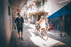 Tourist (]vincent[) Tags: hk hong kong china asia people portrait girl ginger emma beautiful vincent sony rx 100 mk iv canon 50 mm 14 self cheung chau island sunny bicycle dry dried food