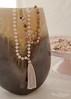 Mala (Sweet Pudgy Panda) Tags: mala beads necklace bracelet om namaste yoga moonstone labradorite rosequartz smokeyquartz heart tassel guru bead silver gold