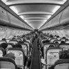 In flight #34 (Streets.and.Portraits) Tags: flight aircraft seating iphone blackwhite travel aisle lufthansa monochrome bw perspective vanishing a320 airbus seat