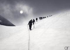 Onwards and Upwards (A.Reef (off for a while)) Tags: mountaineering glacier ascent aoi elitegalleryaoi bestcapturesaoi aoi3levels