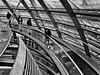 Urban Geometry (Eggii) Tags: blackand white bw people berlin urban city geometry