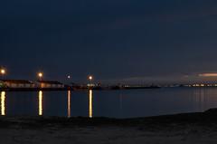 jlvill  088  En busca de la hermosa hora azul (jlvill) Tags: noche nocturna reflejos rio agua azul 1001nights 1001nightsmagiccity