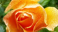 Decorated Rose (GeminEye27) Tags: dreamscope rose decorated topazclean