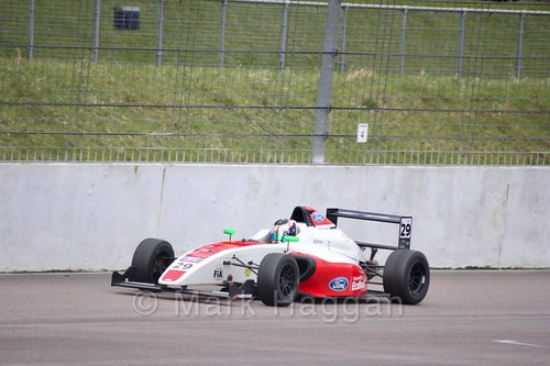 Lucca Allen in British F4 pre-season testing 2018