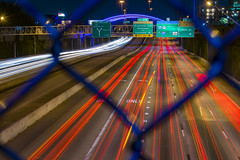 Houston at the speed of light (adaliphoto) Tags: nikond3400 nikon d3400 houston htown texas home my city downtown uptown bigcity usa america american explore exploring homesweethome beautiful love amazing mytown highway freeway street cars traffic overpass bridge colors lights lightshow led fence fences lighttrails longexposure shutterspeed speedoflight 59south 59north