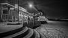 Brighton boardwalk mono (Mariasme) Tags: botanybay brightonlesands night monochrome blackandwhite beach longexposure challengeyouwinner