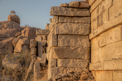 hampi guard post (sami kuosmanen) Tags: hampi history old outdoor orange india intia taivas travel rock geology granite asia