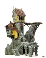 Crooked House: Base paint (Will Vale) Tags: fantasy 28mm warscryercitadel scenery warhammer scalemodel gamesworkshop ageofsigmar malignportents skullvanemanse
