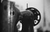 みしーん (mechine, not a machine) (irimoyatetsu) Tags: sewing machine explored leica leitz summitar film monochrome vintage art artistic singer bokeh noir blanc analog
