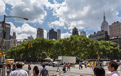 New York (Oleg.A) Tags: square usa newyork manhattan street people city cityscape midday town summer colorful architecture skyscape megalopolis sunny style outdoor nyc america noon outdoors