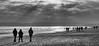 Walk This Way (DaneGardner) Tags: poole dorset blackandwhite landscape beach sea cloudsstormssunsetssunrises