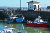 Fishing boats at Porthcawl (cmw_1965) Tags: porthcawl marina fishing boat boats trawler blue red pier ogmore sea southerndown harbourmaster office harbour billy joe sa524 rusty neglected