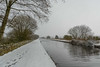 _DSC0017 - A Mile of snow (SWJuk) Tags: swjuk uk unitedkingdom gb britain england lancashire burnley home canal leedsliverpoolcanal water still calm reflections path footpath towpath cloudy greysky snow snowfall footprints 2018 mar2018 winter nikon d7100 nikond7100 18300mm rawnef lightroomclassiccc