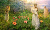 Beauty, Charm and Grace amid Flowers (kinglear55) Tags: montage flowers hibiscus threegraces olympusom2n zuiko vivitar adobe elements women impressionism art photo panasonic lx7