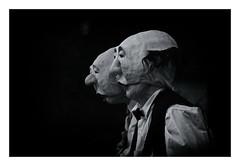 Brothers In Masks (RadarO´Reilly) Tags: maskerade masque sw schwarzweis bw blackwhite monochrome blanconegro noiretblanc zwartwit bühne stage