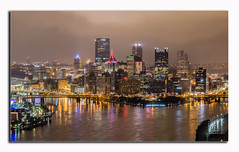 Pittsburgh Skyline (esheyes) Tags: landscape pittsburg cathedral learning architecture
