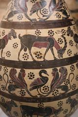 Cornithian animal vase - Rome Spring 2018 National Etruscan Museum at the Villa Julia. (Kevin J. Norman) Tags: italy rome etruscan villa julia giulia etrusca juliusiii corinth