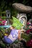 There Was An Old Woman . . . (red stilletto) Tags: bluelotuswatergarden lotusgarden lotusflower flower flowers summer macro fairy fairygarden mushroom toadstool shoe boot yarravalley yarrajunction