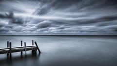 St Leonards, Victoria, Australia (Chas56) Tags: stleonards bay water beach ocean seaside nd longexposure ngc ndfilter pier jetty canon canon5diii mono monotone clouds sky storm