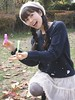 Look At The Fun (emotiroi auranaut) Tags: girl woman lady fun pretty cute adorable bubbles tube wand bottle park sweater skirt cap face hair lovely beauty beautiful charming asia asian japan japanese
