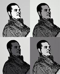 AndyWarhol (www.ilkkajukarainen.fi) Tags: blackandwhite mustavalkoinen valokuva photo monochrome uistin viehe uistimentekijä lure maker käsityöläinen artist suomi suomi100 eu europa scandinavia portrait potretti ruutu paita harryvinni keminmaa pohjoinen lappi lapland