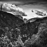 A Far Off View to Half Dome and El Capitan (Black & White) thumbnail