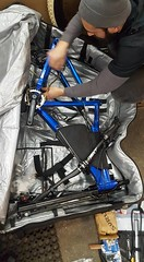 Packing the Christini AWD bike very carefully