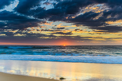 Sunrise Seascape (Merrillie) Tags: daybreak sunrise shellybeach nature australia surf centralcoast morning newsouthwales waves earlymorning nsw sea beach ocean sky clouds landscape coastal cloudy outdoors seascape waterscape coast water dawn