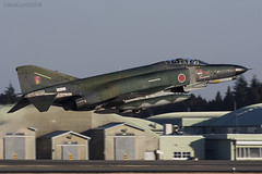 Japan Air Self Defence Force, McDonnell Douglas RF-4EJ Kai Phantom II, 77-6392. (M. Leith Photography) Tags: mark leith photography japan japanese self air defence force jasdf mcdonnell douglas phantom f4 ibaraki hyakuri sunshine base fighter nikon d7000 d7200 70200vrii 300mmf4 nikkor asia flying military sky building airplane cockpit aircraft jet