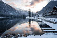 🔥Winter Wonderland🔥 (Fabian Fortmann) Tags: bavaria bayern germany deutschland hintersee berchtesgaden lake see sunset sonnenuntergang reflection spiegelung winter snow ice alps mountains alpen berge schnee eis