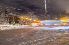 Only plows out now (• estatik •) Tags: wyckoff nj new jersey storm snow march 2018 crescent ave mayflower farrier plows movement lights dark long exposure
