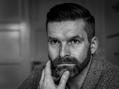 men's portrait #bw #beardstyle #portrait #portraitphotography #picoftheday #model #monochrome #mzh #olympuscamera #olympus #think #befocused #eyes #style #mystyle #present #germany #deutschland (markmeyerzurheide) Tags: bw beardstyle portrait portraitphotography picoftheday model monochrome mzh olympuscamera olympus think befocused eyes style mystyle present germany deutschland
