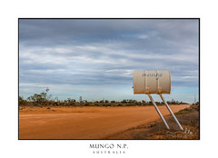 The Road to Mungo (sugarbellaleah) Tags: desert mungo nationalpark road dirt sign barrel red earth desolate outback rural countryside nature bushland arid clouds soil dry outdoors travel tourism vacation getaway exploring place nsw australia roadside fun unique uninhabitable extreme landscape scenic