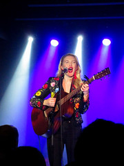 Ashley Campbell London Borderline March 2018 (www.kevinoakhill.com) Tags: ashley campbell london borderline march 2018 country singer asongwriter guitar banjo ashcambanjo band brother glen daughter father dad beautiful amazing fantastic wonderful songs fiddle photo photos photography blonde blond hair nudie jacket light lights blue white incredible hot new act c2c black close up brilliant capital gig live music concert show