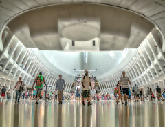 Under the Oculus (justenoughfocus) Tags: newyork newyorkcity sonyalpha interior manhattan nyc oculus travel unitedstates urban urbanexploration us