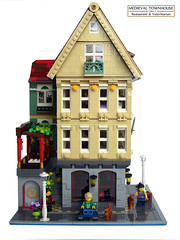 Medieval Townhouse - Ext_01 (tobi_241) Tags: lego ideas modular modularbuilding asian restaurant veterinarian halftimbered medieval townhouse apartments