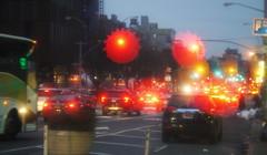 Rush Hour of Low East Side, NYC (Shot @ f1.5) (Xu@EVIL Cameras) Tags: wollensak cine velostigmat 2in 50mm f15 machine version lens night traffic lightning car streetshooting bokeh
