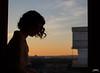Desiree (JaviJ.com) Tags: model modelo woman girl chica mujer portrait javijportrait sunset silueta puesta de sol home window house room young hair wind solors sun atardecer madrid